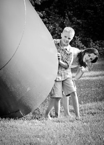 Gus and Kay Hiding bw-