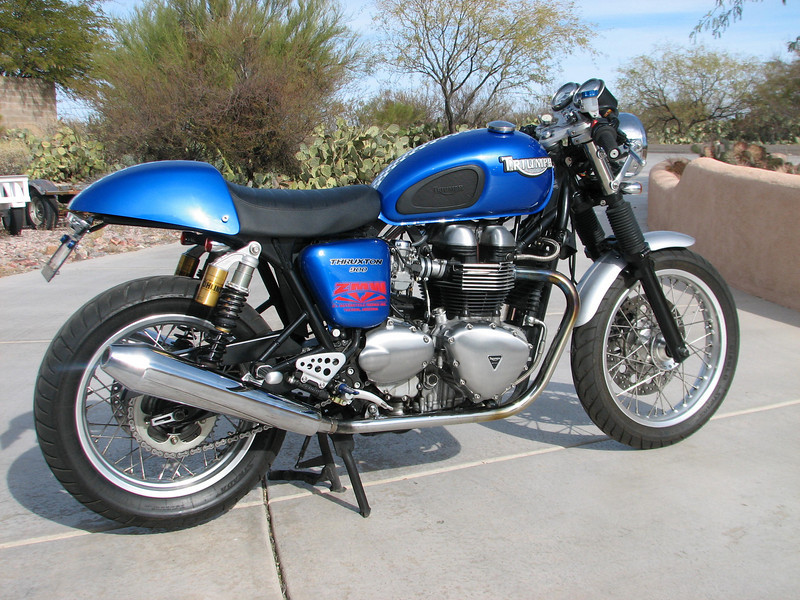 Triumph 900 Thruxton 900 cafe Build by ZMW.