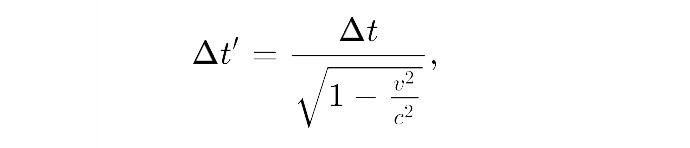 time dilation formula