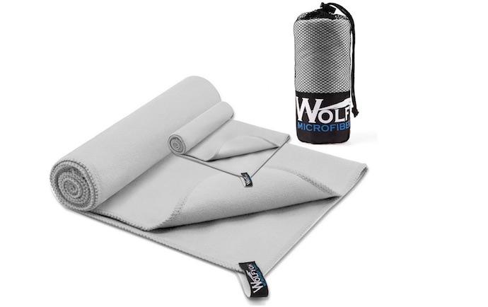 Wolfyok quick-dry microfiber towel