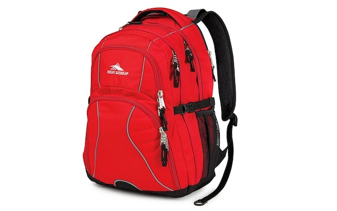 high sierra red backpack
