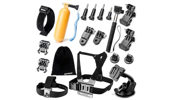 Zookki Accessories Kit for GoPro
