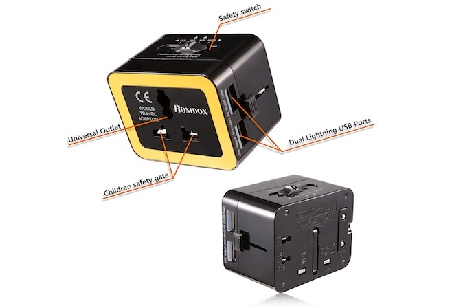 hombox travel adapter