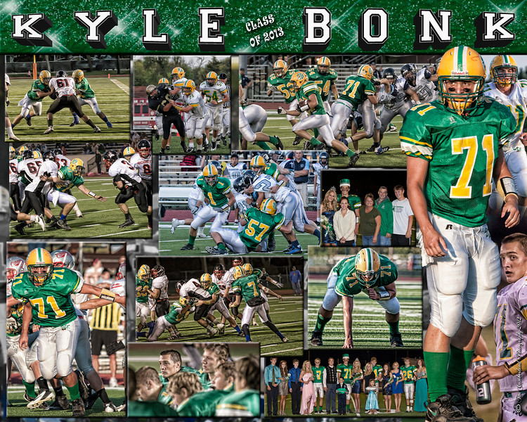 Kyle Bonk 16 X 20 inch Sports Collage