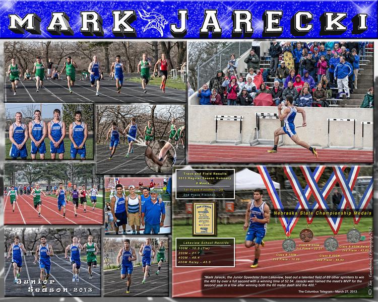 Mark Jarecki 16 X 20  Track Sports Collage