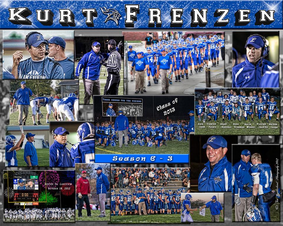 Kurt Frenzen 16 X 20 inch Sports Collage
