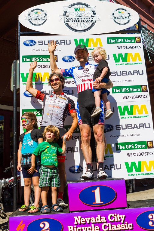 Jason Walker (Folsom Bike/VW/Raley's) takes the win for the 35+ 1/2/3 along with Andres Gil (Michael David Winery) and Michael Sayers (Team Specialized) (not pictured).