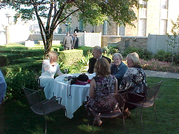 Tim and Alisa\'s Wedding <br /> Left to Right:<br /> Kay, Uncle Jack, Fern, Linda, Amy