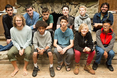 Campers at Timberlake pose for cabin photos during the first full day of the second session of camp, July 24, 2017. Timberlake, a summer camp for boys, is one of seven Farm & Wilderness camps in Plymouth, VT, based on the Quaker values of simplicity, honesty, self-reliance, and respect for all life. © Michael Forster Rothbart Photography www.mfrphoto.org • 607-267-4893 34 Spruce St, Oneonta, NY 13820 86 Three Mile Pond Rd, Vassalboro, ME 04989 info@mfrphoto.org Photo by: Michael Forster Rothbart Date:  7/24/2017 File#:  Canon — Canon EOS 5D Mark III digital camera frame C29082