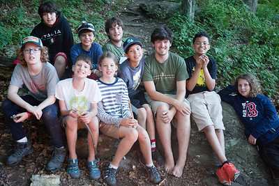 Campers at Timberlake pose for cabin photos during the first evening of the second session of camp, July 23, 2017. Timberlake, a summer camp for boys, is one of seven Farm & Wilderness camps in Plymouth, VT, based on the Quaker values of simplicity, honesty, self-reliance, and respect for all life. © Michael Forster Rothbart Photography www.mfrphoto.org • 607-267-4893 34 Spruce St, Oneonta, NY 13820 86 Three Mile Pond Rd, Vassalboro, ME 04989 info@mfrphoto.org Photo by: Michael Forster Rothbart Date:  7/23/2017 File#:  Canon — Canon EOS 5D Mark III digital camera frame C20275