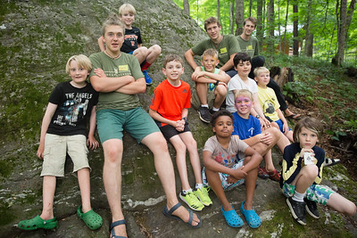 Boys arrive at Timberlake, get welcomed by counselors at the Trading Post, say goodbye to their parents, move into their cabins and play games and roast marshmallows on the first day of camp for August session, July 23, 2017. Timberlake, a summer camp for boys, is one of seven Farm & Wilderness camps in Plymouth, VT, based on the Quaker values of simplicity, honesty, self-reliance, and respect for all life. © Michael Forster Rothbart Photography www.mfrphoto.org • 607-267-4893 34 Spruce St, Oneonta, NY 13820 86 Three Mile Pond Rd, Vassalboro, ME 04989 info@mfrphoto.org Photo by: Michael Forster Rothbart Date:  7/23/2017 File#:  Canon — Canon EOS 5D Mark III digital camera frame C20183