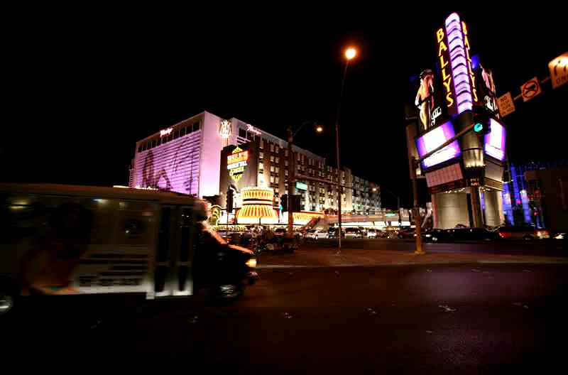 Las Vegas Strip at night, 5/07. This was shot at 1 frame/sec. for approximately 5 minutes.
