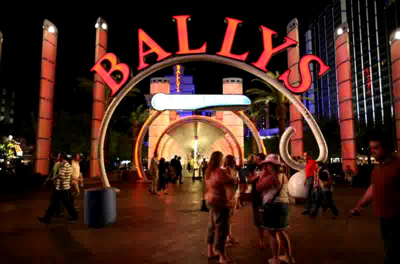 """About 3.5 minutes of the Ballys entrance and """"moving sidewalk"""", taken at 1 frame/sec., 5/07."""