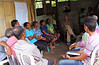 leading a farmers' focus group discussion on food security. it went from english-to indonesian-to tetun (local language in timor), then back again