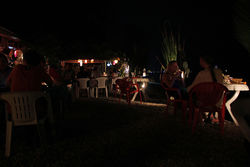 dinner on the shore in dili
