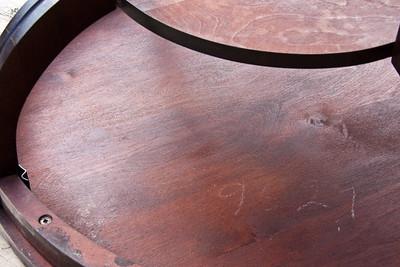 Underside core likely not mahogany