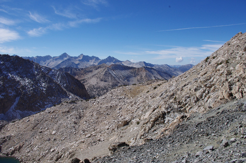 looking south over the crest of the sierras