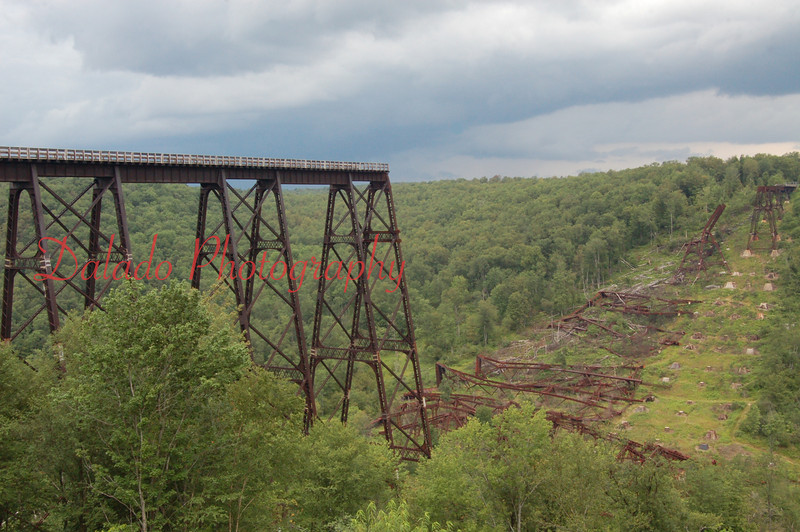 Kinzua Bridge- In 2003, a F1 tornado took down part of this 100 plus year old bridge near Route 6 in the northern-tier of Pa.