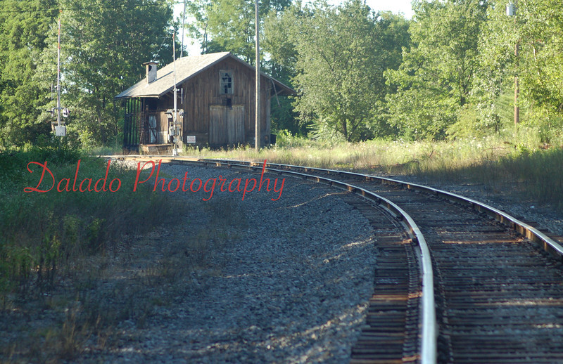 Just around the bend a station lies.