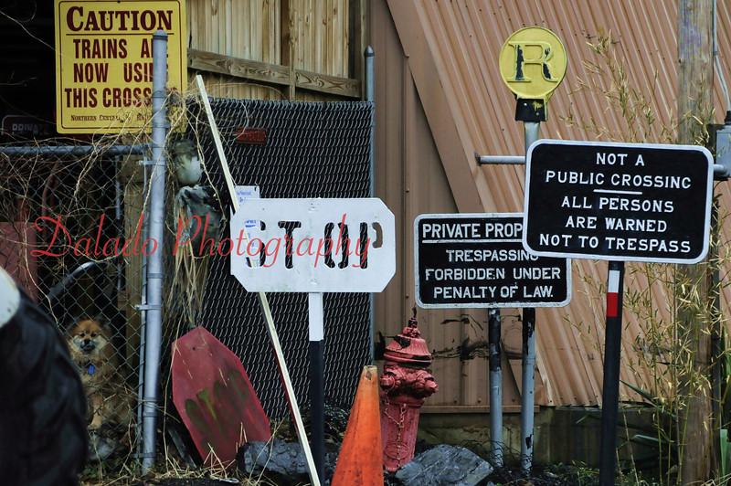 Signage in Catawissa.