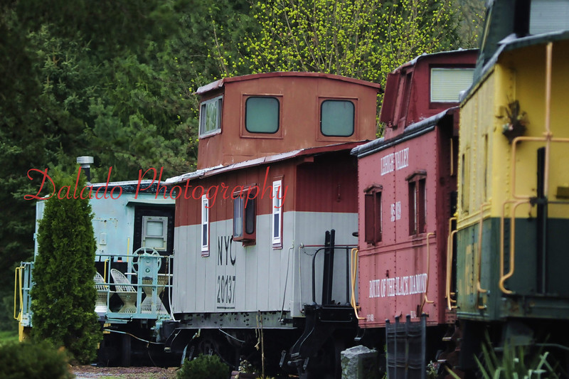 Cabooses in Catawissa, Pa.