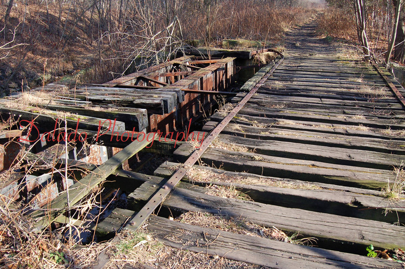 Abandon R.R. bridge in Coal Twp.