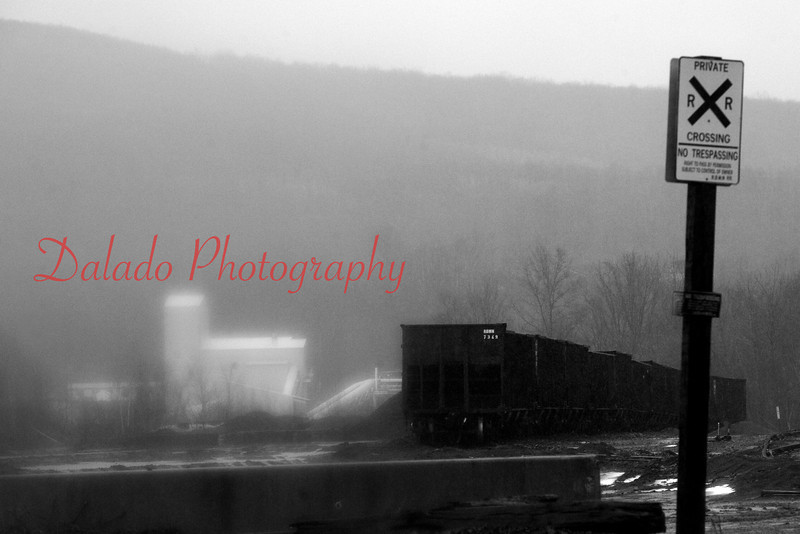 Rainy tracks in the Anthracite Region of Pa.