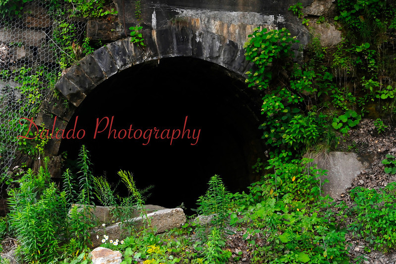 An old abandon railroad tunnel at Oil City- Built in 1870, this tunnel served the Jamestown and Franklin Railroad Company, which was primarily used to ship crude out of the region.
