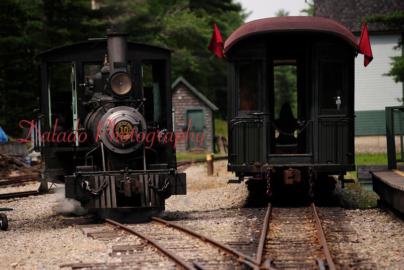 Wiscasset Waterville & Farmington Railway in Maine.