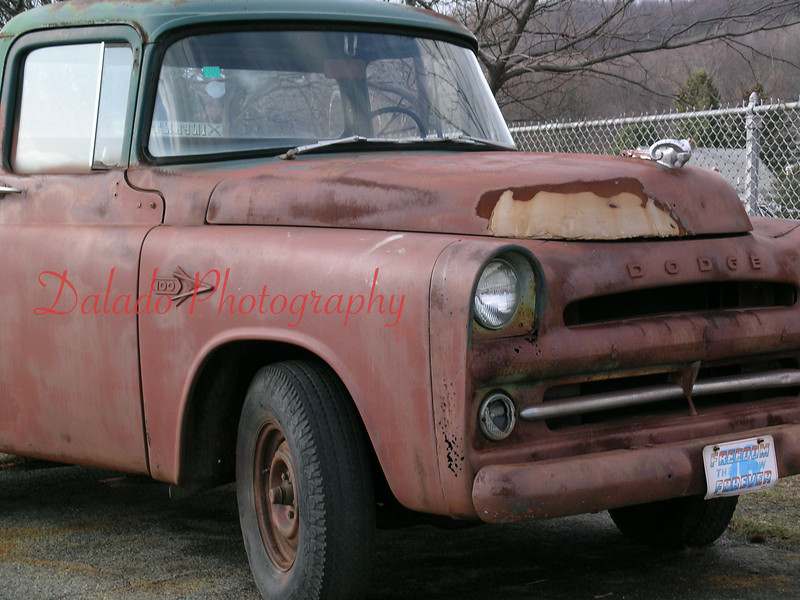 A 1957 Dodge D-100 Stepside in Schuylkill County. This photo was taken several years ago and is one of the oldest photos that I have taken that appear in this album.
