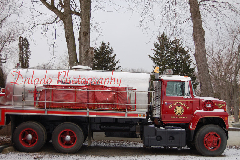 A 1974 Ford 3,000-gallon tanker from Beaverdale Fire Company.
