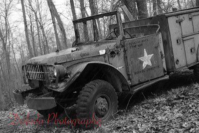 A former Army truck in West Cameron Township.