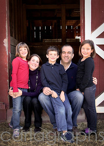 fam at the barn-