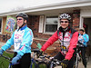Eileen and Tom are ready to ride.  Tom Chopp's physical therapist came along to see if the PT he prescribed was working.