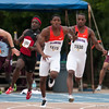 Florida captured 1st place at the Men's 4x100 meter during the Tom Jones Memorial Classic on Saturday, April 21, 2012 at the Percy Beards Track at James G. Pressly Stadium in Gainesville, Fla. / Gator Country photo by Saj Guevara