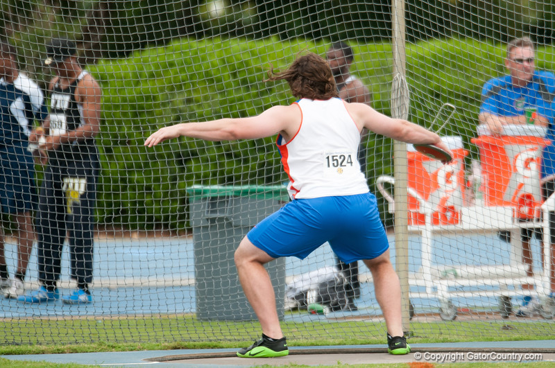 Florida finished 4th to 7th place at Men's Discus during the Tom Jones Memorial Classic on Saturday, April 21, 2012 at the Percy Beards Track at James G. Pressly Stadium in Gainesville, Fla. / Gator Country photo by Saj Guevara