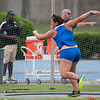 Florida Keely Medeiros finished 2nd at the Women's Discus  during the Tom Jones Memorial Classic on Saturday, April 21, 2012 at the Percy Beards Track at James G. Pressly Stadium in Gainesville, Fla. / Gator Country photo by Saj Guevara