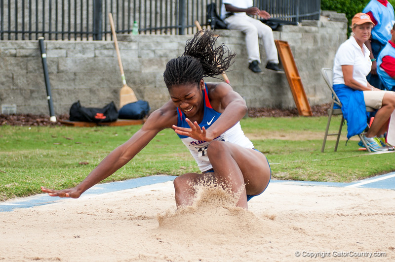Florida Lorraine Graham finished 12th at the Women's Long Jump during the Tom Jones Memorial Classic on Saturday, April 21, 2012 at the Percy Beards Track at James G. Pressly Stadium in Gainesville, Fla. / Gator Country photo by Saj Guevara