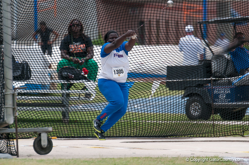 Florida Fidela James  finished 2nd place during the Tom Jones Memorial Classic on Saturday, April 21, 2012 at the Percy Beards Track at James G. Pressly Stadium in Gainesville, Fla. / Gator Country photo by Saj Guevara
