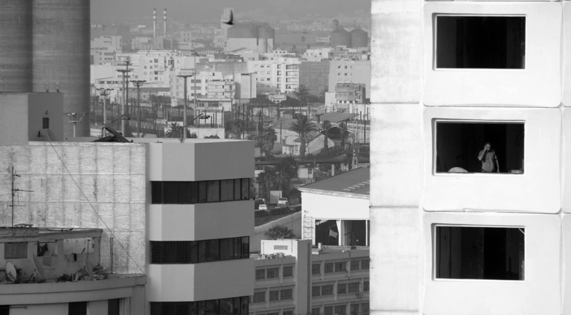 Building under construction. Casablanca, Morocco