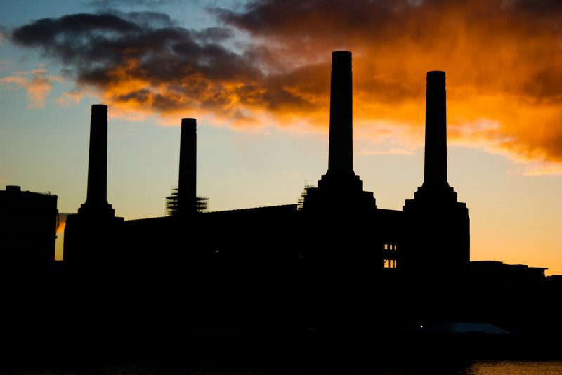 Battersea Plant, from Chelsea Embankment, London