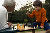 M276, TA7.1: that depicts information processing – thinking – across the life-span. Image being replaced is of an older man playing chess with a young child<br /> Choice 1 of 11<br /> <br /> Santa Monica, California, United States --- Hispanic grandfather and grandson playing chess --- Image by © Ronnie Kaufman/Larry Hirshowitz/Blend Images/Corbis