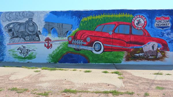 Frontier Gas Mural, Sutherland, Nebraska