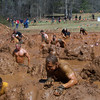 There is an easier way over the mud hill, but nooo, Brian wants to make it a Tough Mudder.