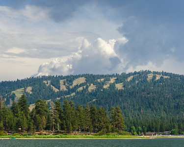 I found this view of the Snow Summit ski resort on the shores of the lake in the Serrano campground.