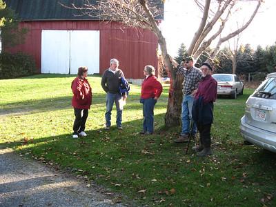 Tour of Brett Chedzoy's farm, 2011 NE-Silvopasture Conference