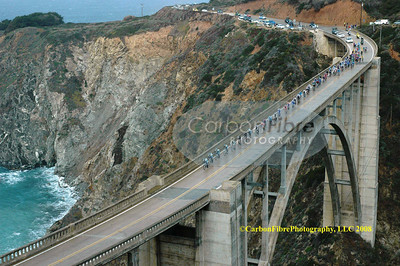 Peloton crossing Bixby Bridge