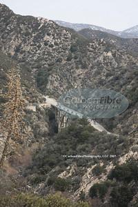 Stage 7-Breakaway crosses Tujunga Canyon Bridge