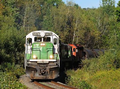 Montreal Maine & Atlantic, # 607 empty crude oil, Foster Qc