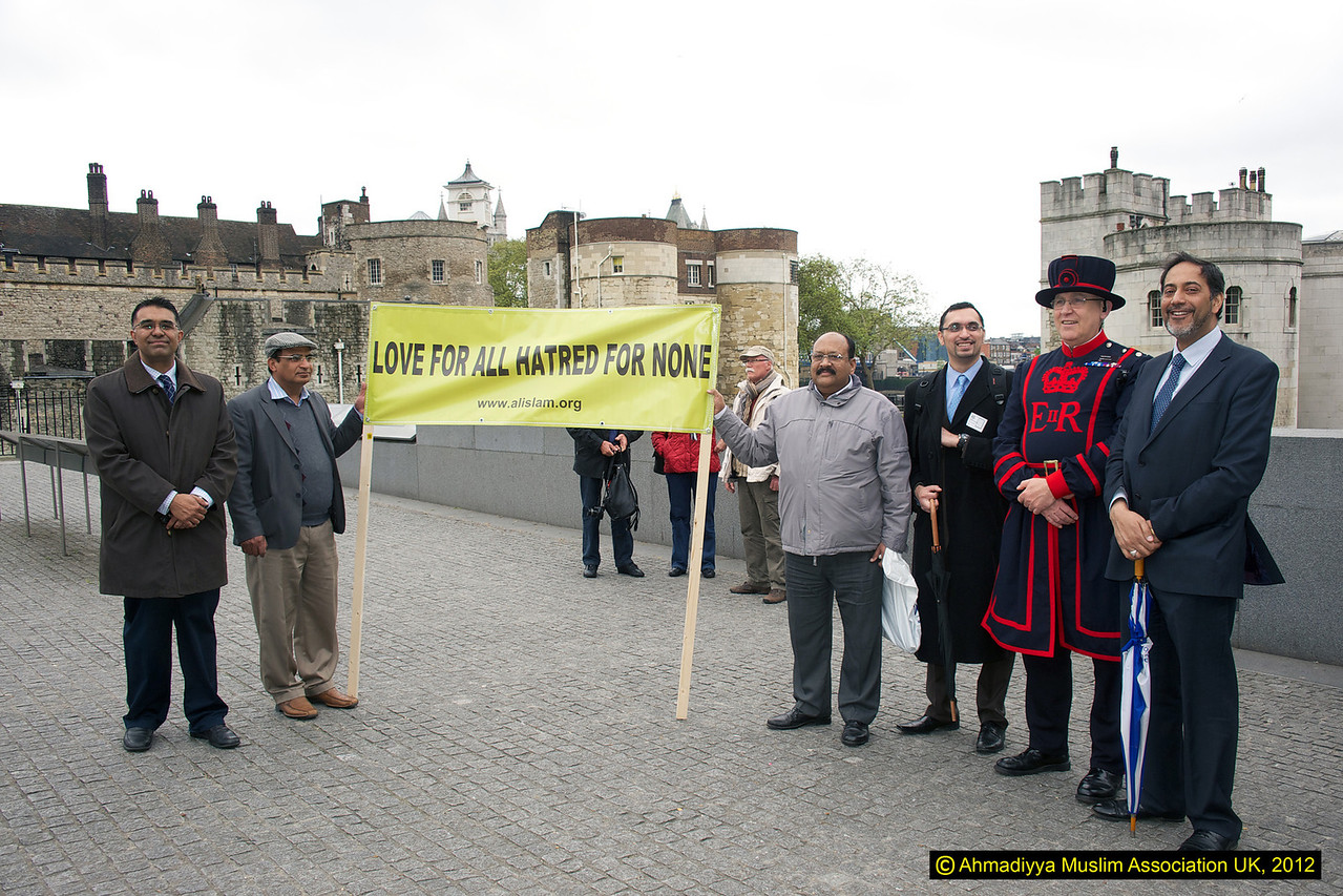 Outside the historical Tower of London